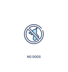 no dogs concept 2 colored icon simple line vector image