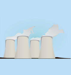 nuclear power plants vector image