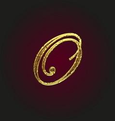 O golden letter vector