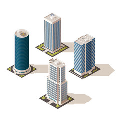 office buildings and business centers real estate vector image
