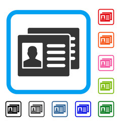 Patient accounts framed icon vector