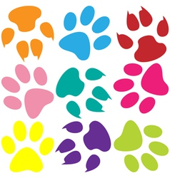 Paw prints background vector