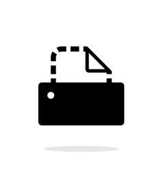Printer icon on white background vector