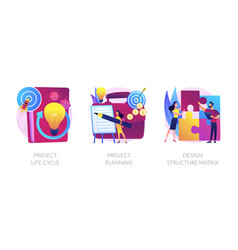 Project life cycle abstract concept vector