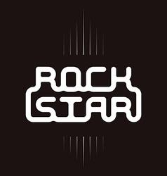 Rock star badge - original lettering vector