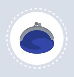 savings purse wallet shopping icon concept flat vector image