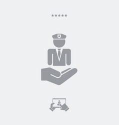 Security services - minimal flat icon vector