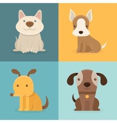 set of cartoon dogs in flat style vector image