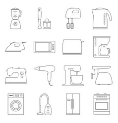 Set of home electronics appliances vector