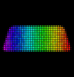 Spectrum dotted treasure brick icon vector