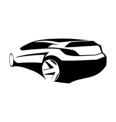 Sports car black silhouette vector