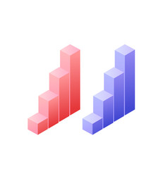 statistics graph chat isometric object vector image