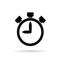 stopwatch in black vector image