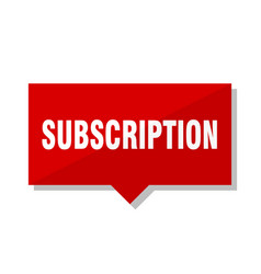 subscription red tag vector image