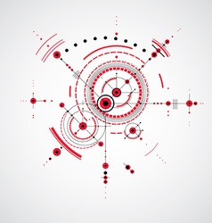 Technical plan red abstract engineering draft for vector image