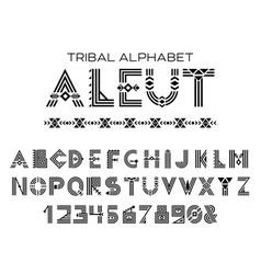 Tribal aleut alphabet vector