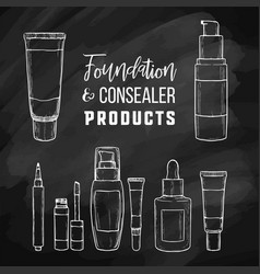 types of foundations vector image