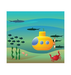 Underwater submarine vector