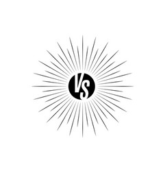 Versus icon vs letters is into round circle shape vector