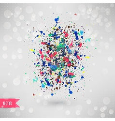 watercolor texture Blue grunge paper template vector image