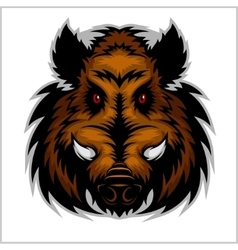 Wild Boar Head Logo Mascot Emblem vector
