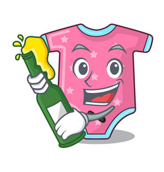 with beer baby wool clothes isolated on mascot vector image