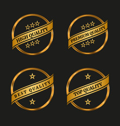 premium and high quality labels set vector image vector image