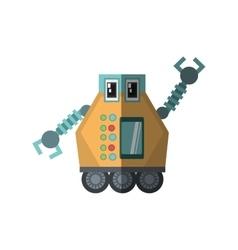 robot multi-task technology shadow vector image