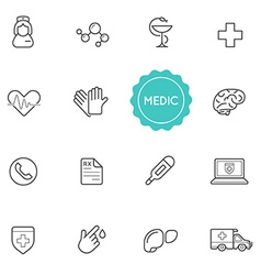 Set of Medical Hospital Elements can be used as vector image