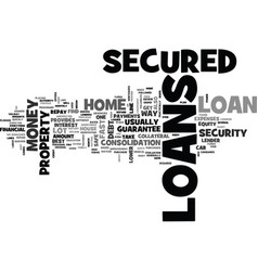 a dream loans for you text word cloud concept vector image