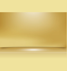 abstract golden gold studio background with vector image vector image