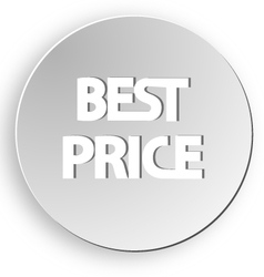 Best price sticker button sale vector