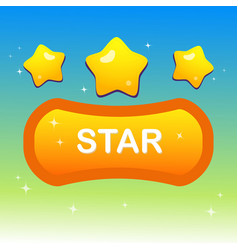 cute stars on shape text box and blink stars vector image vector image