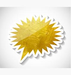 gold paint glittering textured speech bubble art vector image