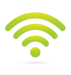 green wifi icon wireless symbol on isolated vector image vector image