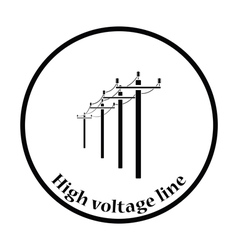 High voltage line icon vector image