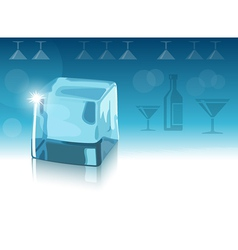 Ice cube and blue background eps10 vector image vector image