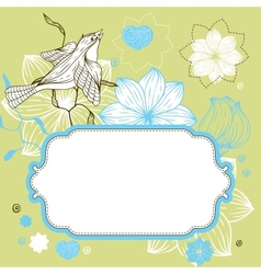 Stylish floral background hand drawn retro flowers vector image vector image