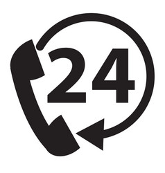 telephone support icon on white background vector image vector image