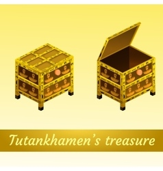 Two magical ancient box from Egypt vector image