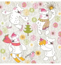 winter bears vector image