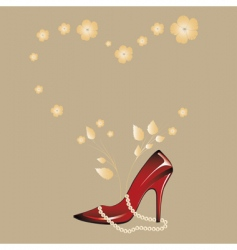 woman's shoe vector image