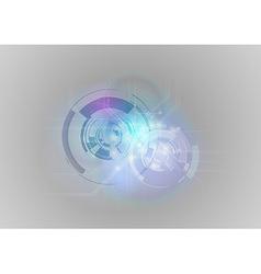 abstract tech blue grey vector image vector image