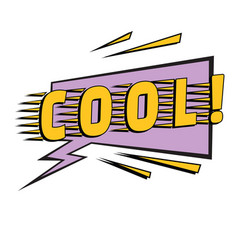 cool comic word vector image