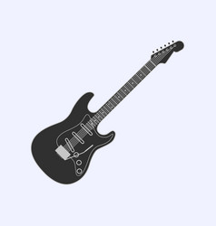guitar icon simple of guitar icon vector image vector image