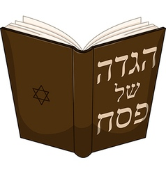 Haggdah Book For Passover vector image
