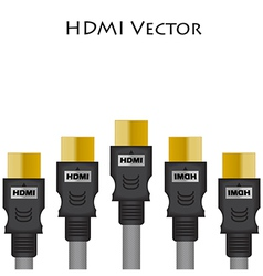 HDMI Size of vector image vector image
