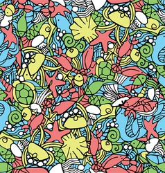 Seamless pattern with an underwater theme vector image vector image