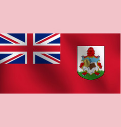 flag of bermuda - vector image vector image