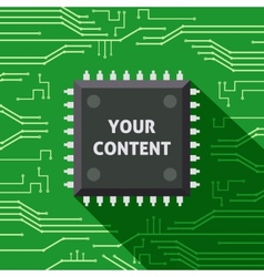 Microchip your content flat background vector image vector image